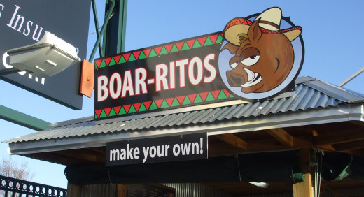 Burritos for Boars?  Cute play on words for a team called Pigs.