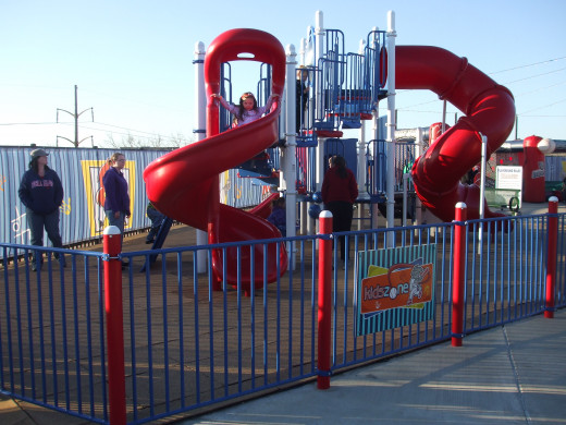 An attractive playground for a fee.