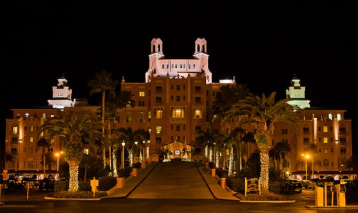 The Don Cesar Hotel though beautiful can be a frightening place when the sun goes down.