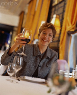 If drinking is all that this businesswoman does at an important business dinner, then say goodbye to another client.
