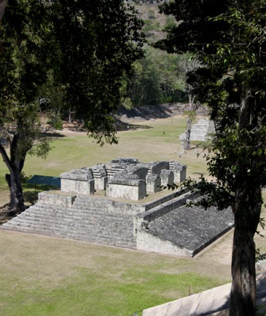View of Mayan Ball Court, Copán