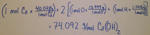 How to find the molar mass of Ca(OH)2