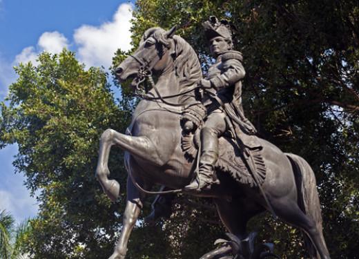 Statue of Francisco Morazán, Parque Central, Tegucigalpa