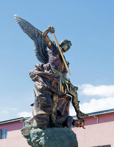 Statue of St. Michael Archangel, Plaza de Los Dolores, Tegucigalpa