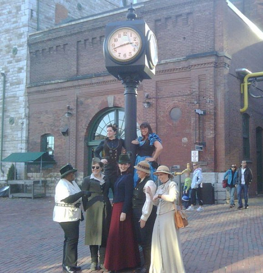 Toronto Steampunk society Distillery District Roam photo by curgoth