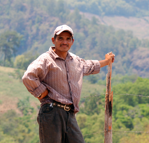 A modern descendant of the Mayas on his little farm, Intibucá