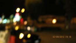 Crenshaw Blvd. at night.