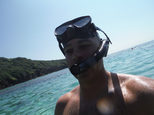 That be me!  World Class Snorkeler!