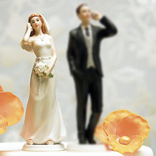 Texting Couple Wedding Cake Topper