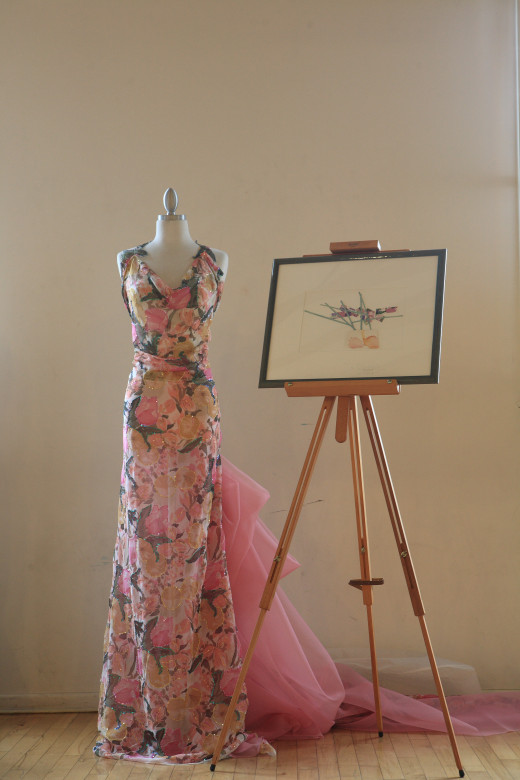 "This dress was created by designer Hanna Hartnell at the TEDX art event ""Fabric As a Medium for Beauty""."