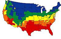 BTUs needed based on the climate where you live