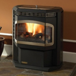 You can see how these pellet stoves vent through the wall, not a
