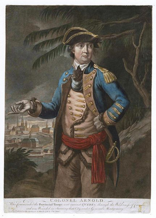An image of Colonel Benedict Arnold during the period he was an American hero and Preston was in his command.