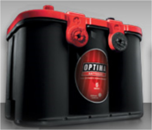 Optima Gel Cell Battery universal top and side post design.