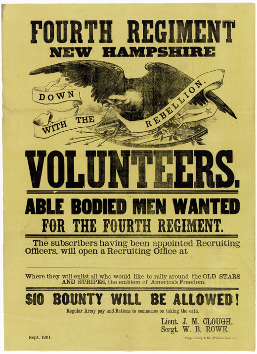 Poster calls for New Hampshire Volunteers