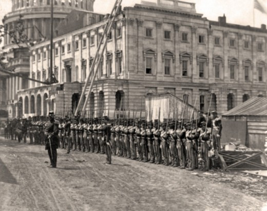 Militia form for a military parade