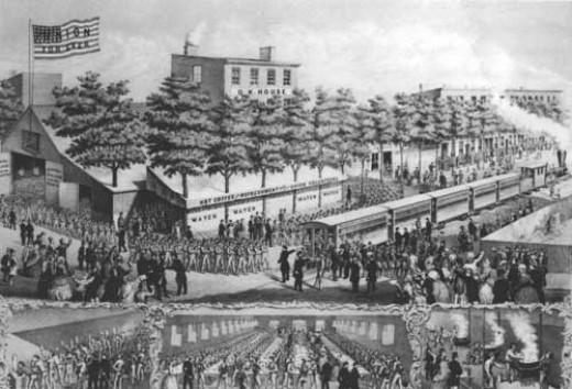 Sketch - a militia unit gathers together