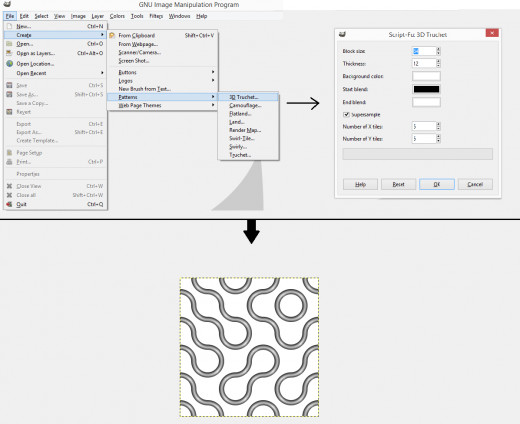 File -  Create -  Patterns -  3D Touchet
