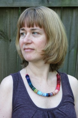 Enjoy the ombré fashion trend by making this button necklace