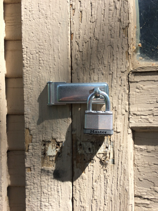It can take as little as five minutes to add a latch and a lock to secure a door.