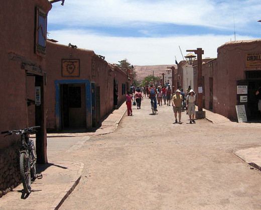 The town of San Pedro where the trek begins