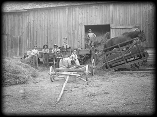 Farmhands in the 1860's