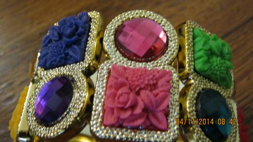 Multicolored bracelet.