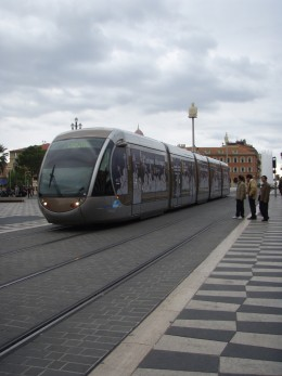The train that goes through Nice, making it easy and cheap to get to all city attractions.