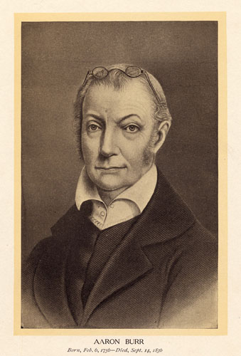 In his 70s, former-Vice President Aaron Burr lived in New York City as a practicing lawyer. He was the last of the nation's founding fathers