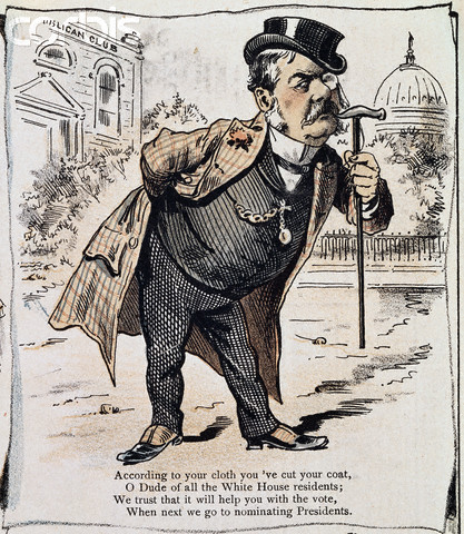 """Chester Arthur, known for his """"gullible"""" personality."""