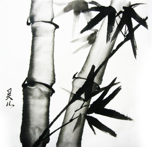 This water colour looks like a typical piece of Chinese painting