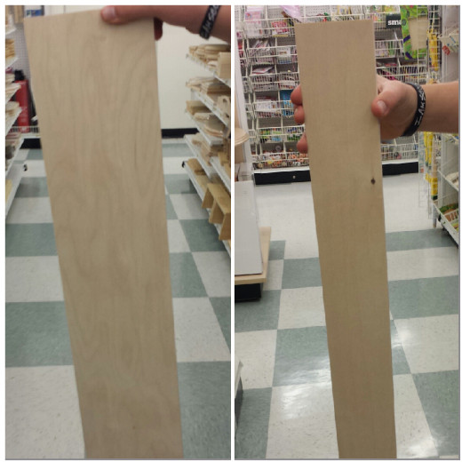 6 X 36 inches on left.  2 X 36 inches on right.