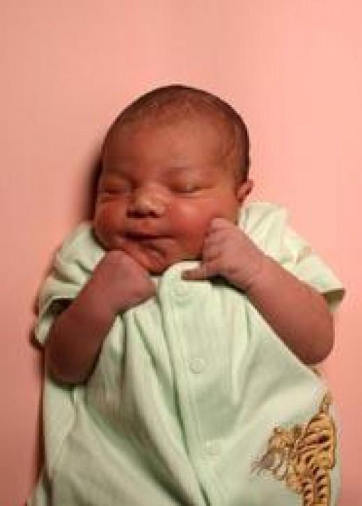 Anaya's newborn baby picture