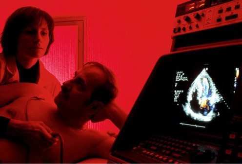 Testing: Echocardiogram ~ An echocardiogram uses sound waves (ultrasound) to generate moving images of the heart.