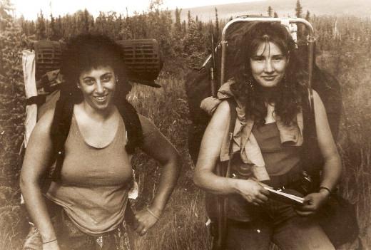 Melanie Saab and my sister Jo hiking in Alaska