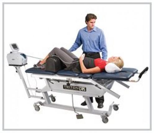 Therapy is a traction based procedure and is one of the leading long-term treatment options for patients suffering from neck pain, back pain, pinched nerves, sciatic leg pain and disc degeneration.