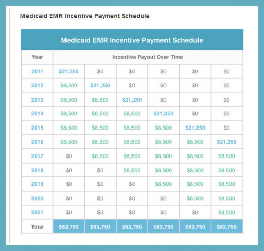 Medicaid payments to healthcare providers for going over to all electronic recordkeeping
