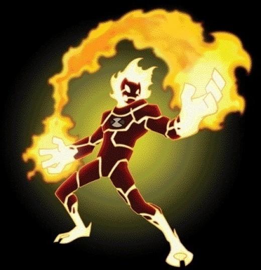 Heatblast the magma alien in Ben10