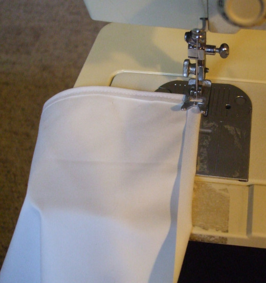 Sewing machines make this so easy.