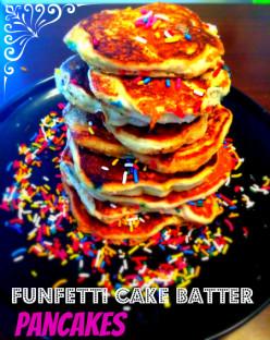 Funfetti Cake Batter Pancakes Recipe