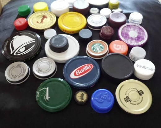 If you are like me and collect bottle caps and lids, use them for creative gift projects.