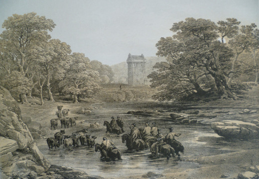 Reivers raid on Gilnockie Tower
