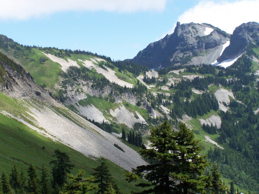 The Cascade Mountains will remind you of the Alps