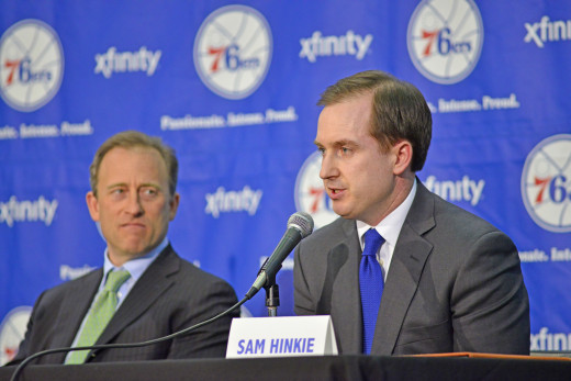 Philadelphia 76ers owner Joshua Harris and GM Sam Hinkie