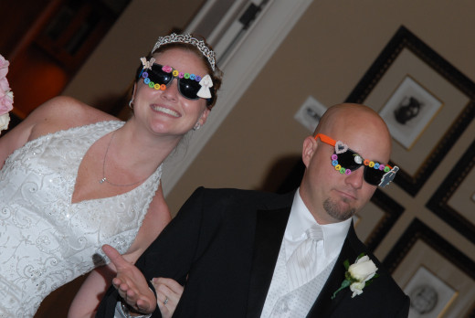 Our wedding was full of personality... Stu and I have always had fun together. It's one of the things I love most about our relationship.