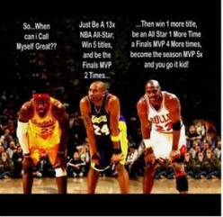 It's unfair that Lebron and Kobe will spend most of their careers compared to Jordan.  They are great players in their own right but they aren't Jordan.