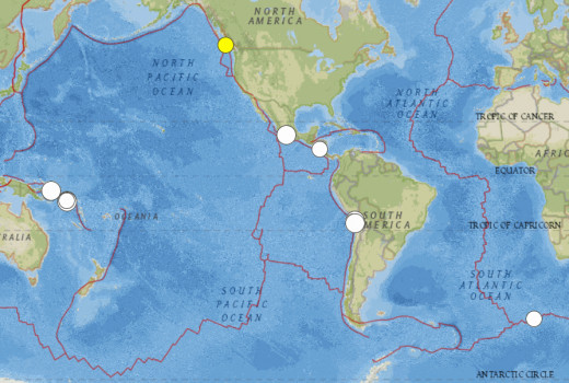 Significant earthquakes of 6.5 magnitude or larger for April 2014