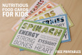 Free Printables: Nutritious Food Cards for Kids