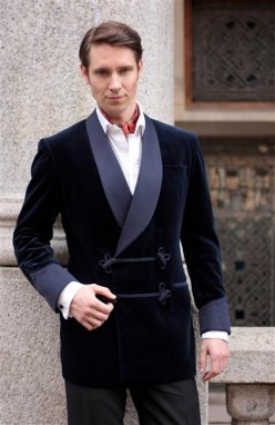 Bespoke smoking jacket made by Buckleigh of London