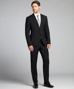 Black suit by Armani Collezioni